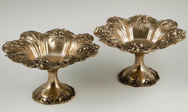 Pair of Sterling Hollowware Compotes