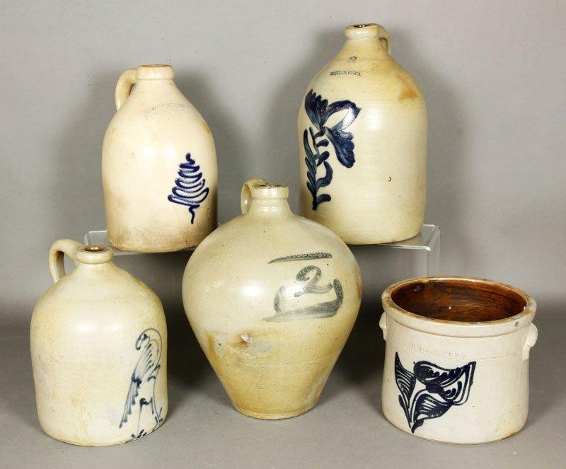 5 Stoneware Pieces