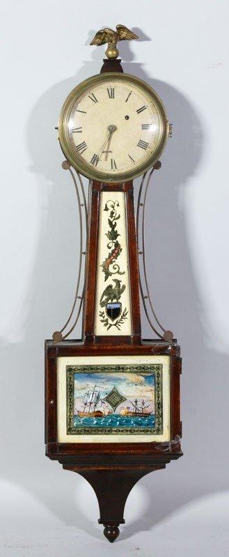 19th C. Boston Banjo Clock