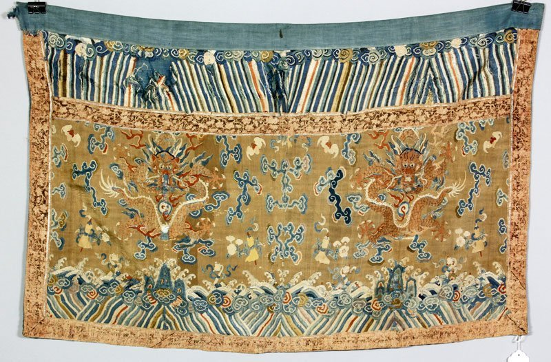 Chinese Qing Embroidered Kesi Panel