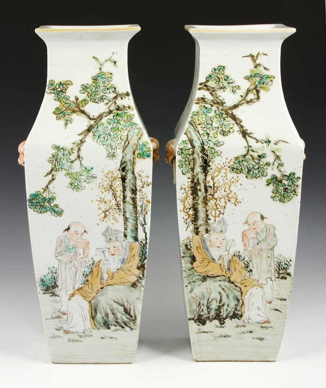 Chinese Pair of Republic Period Vases