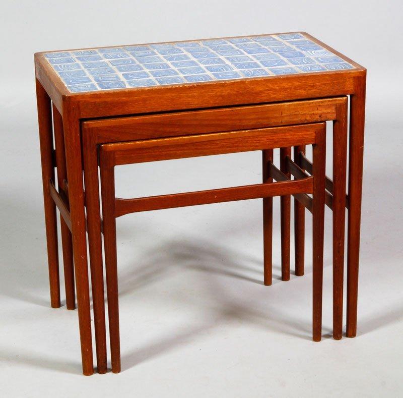 Set of Three Danish Modern Nesting Side Tables