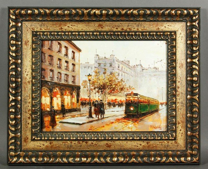 Renard, Paris Street Scene, O/B