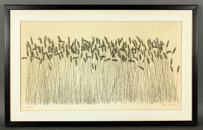 Shahn, Wheat, Lithograph