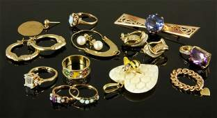 16 Pieces of 14K Gold Jewelry
