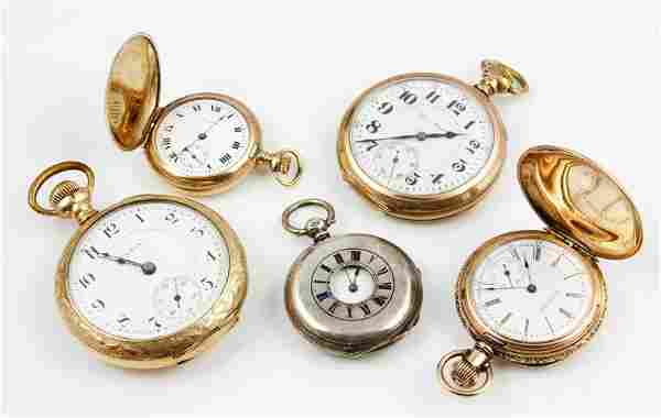 Lot of 5 Pocket Watches