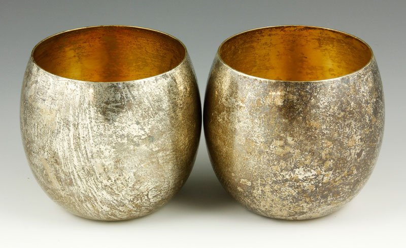 Pair of Tiffany Sterling Cups