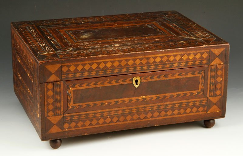 18th C. English Parquetry Document Box