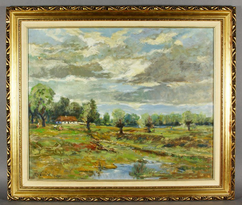 Vacik, Landscape with House, O/B