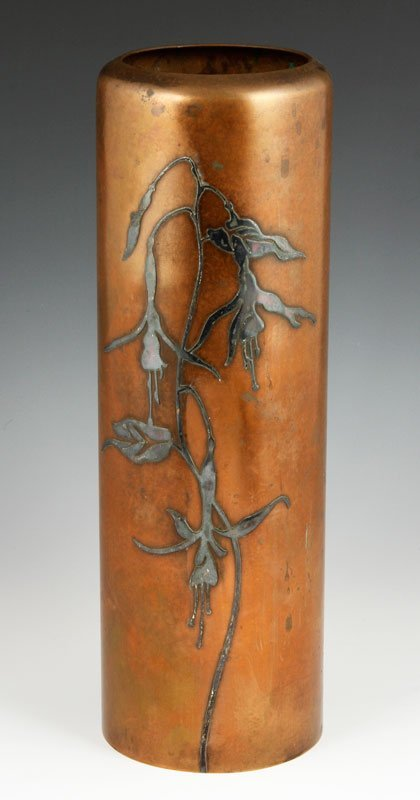 Silver on Copper Vase