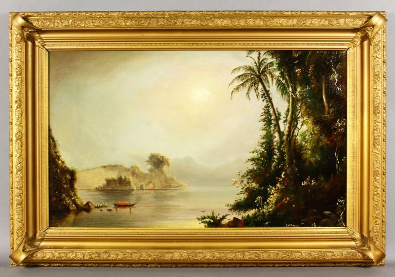 Tropical Boating Scene, O/C