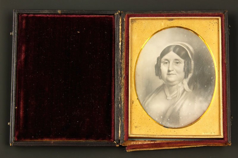 Early Daguerreotype of a Woman Painting