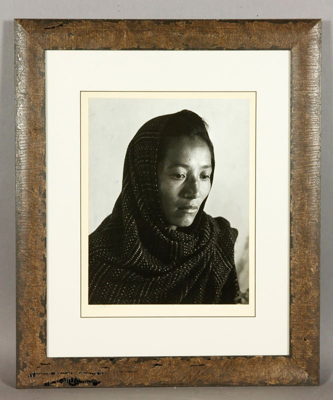 Signed Silver Gelatin Print of Native American