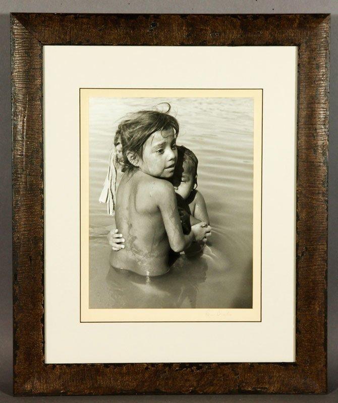 Brooks, 2 Children, Silver Gelatin Print