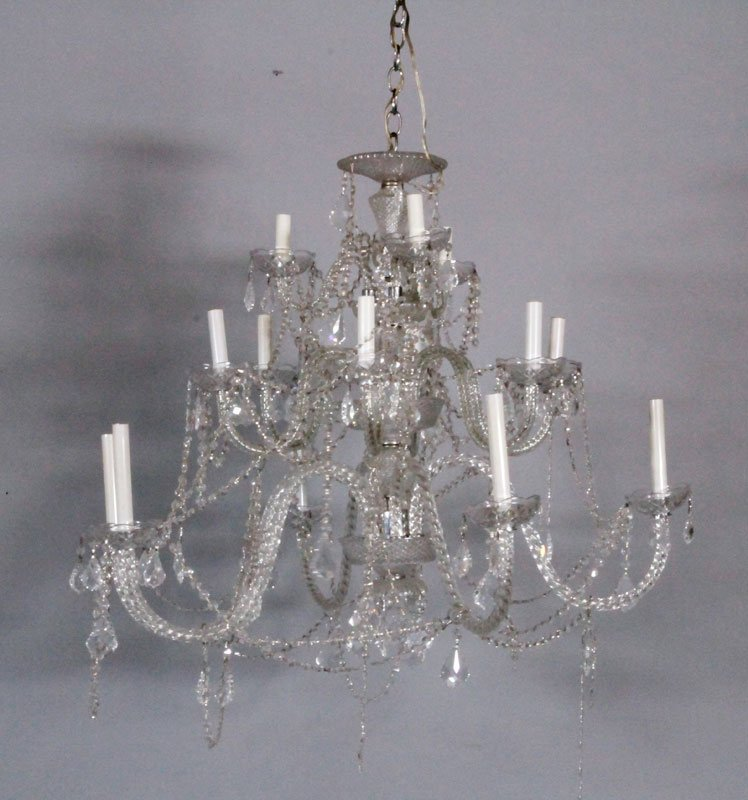 20th C. Crystal Chandelier