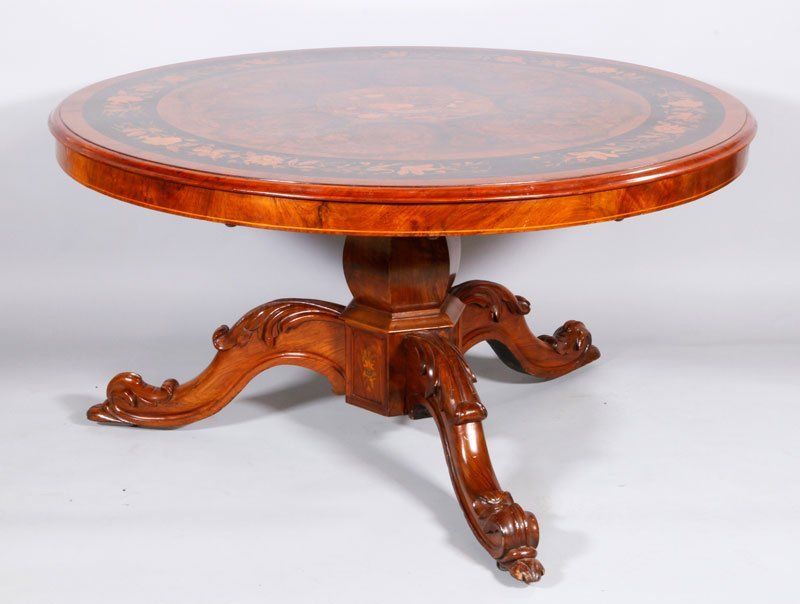 19th C. French Walnut Breakfast Table