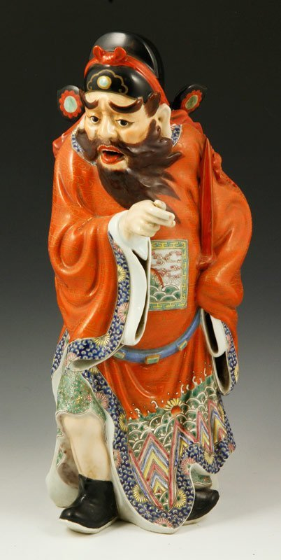 Chinese 19th C. Famille Rose Zhong Kui Figure