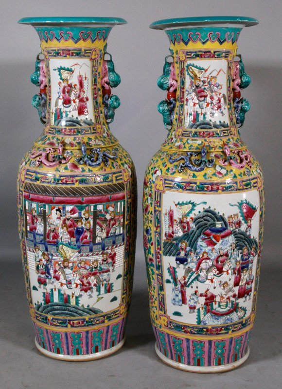 Chinese Canton Famille Rose Vases