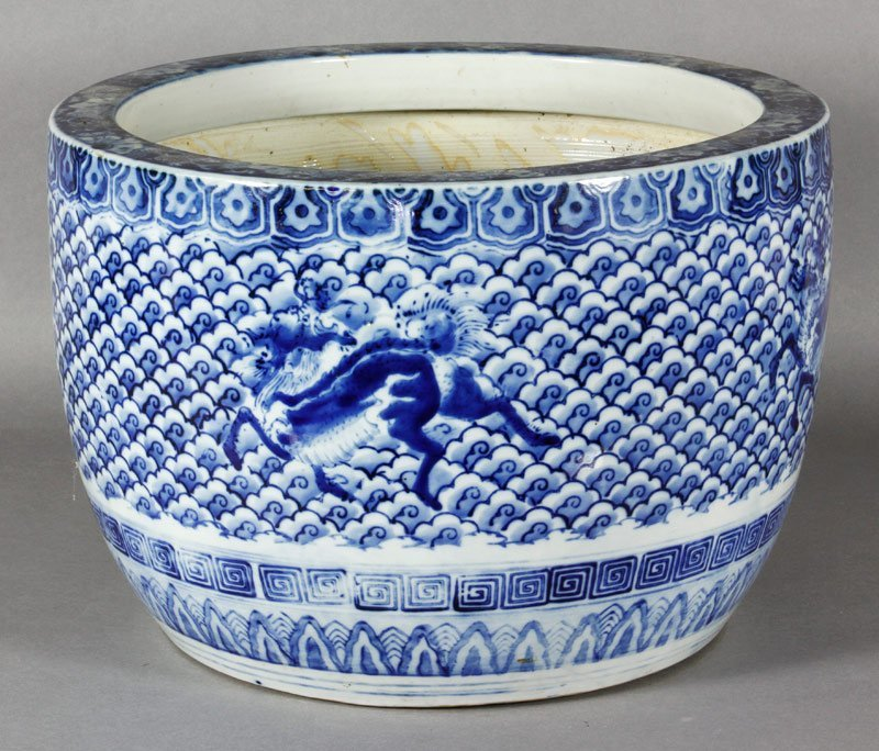 Chinese Blue and White Scroll Holder