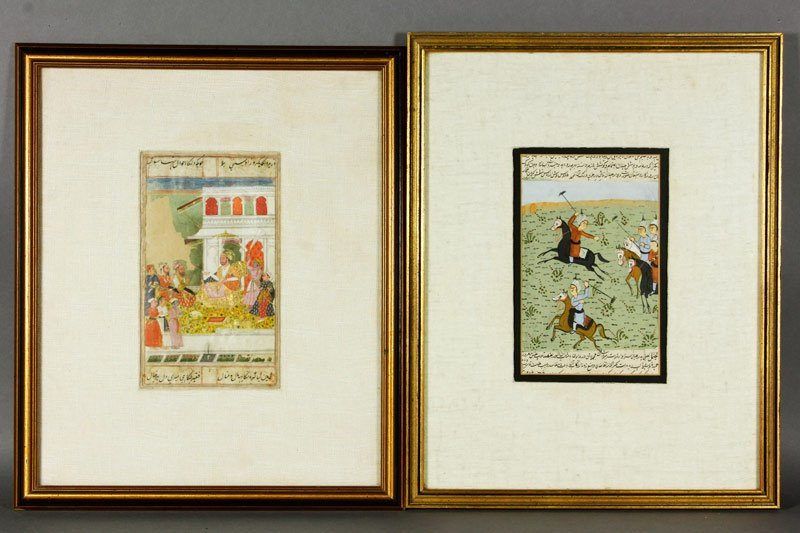 Indian 17th-19th C. Illuminated Pages