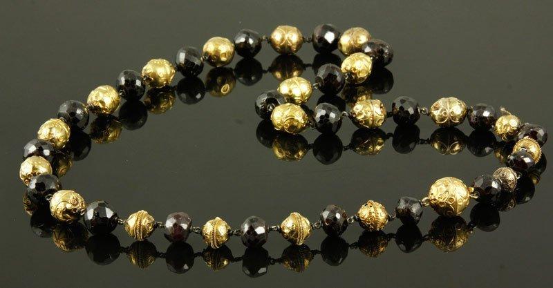 14K Gold and Garnet Necklace