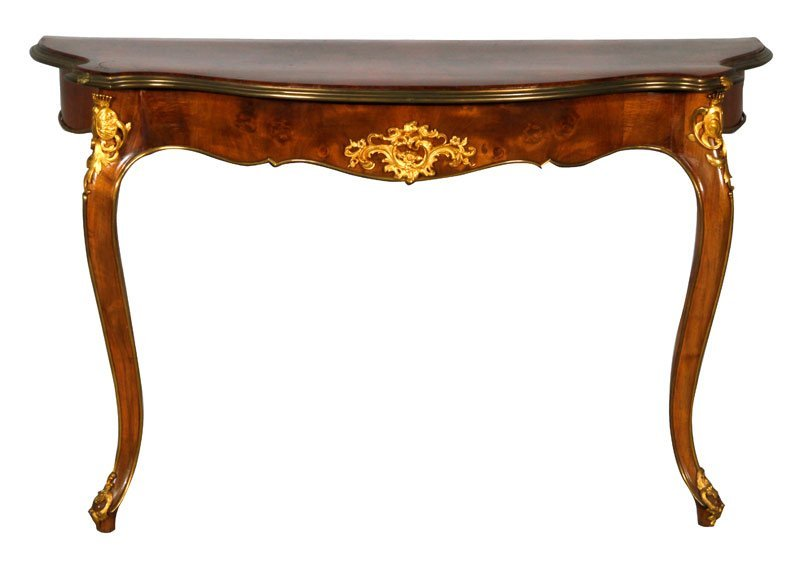 French Style Inlaid Pier Table