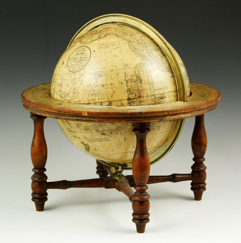 19th C. Moore and Nims Terrestrial Globe