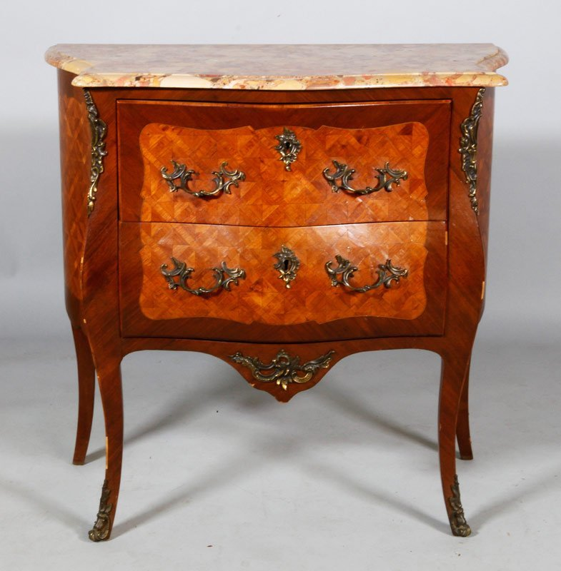 French Style Marble Top Chest