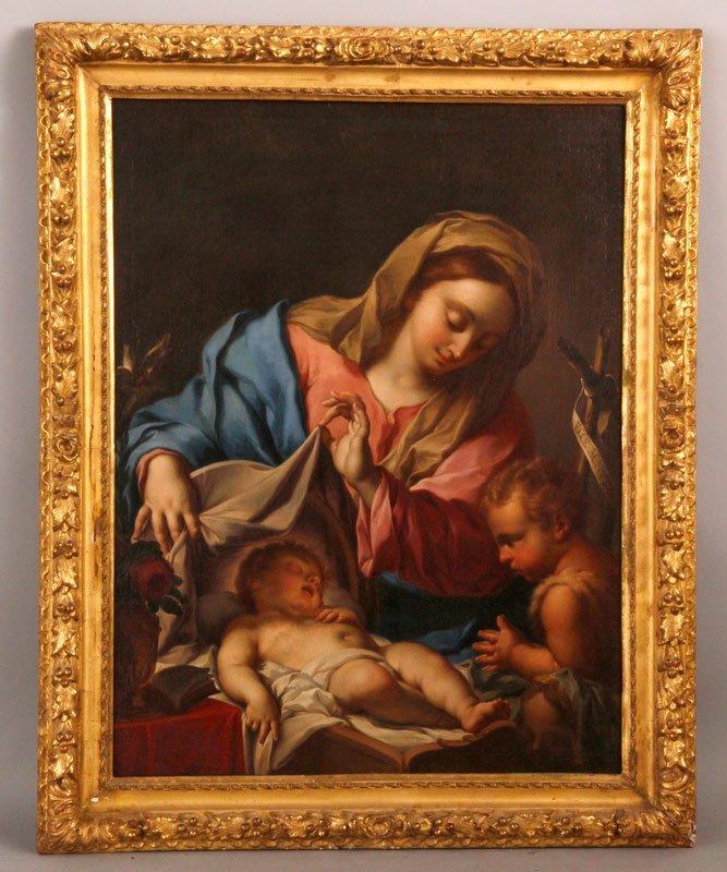 Circle of Trevisani, Madonna with Child & St. John