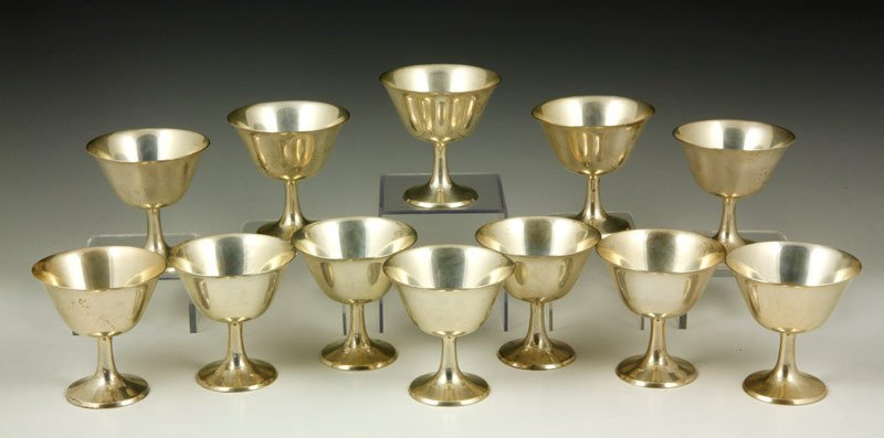 12 Sterling Bowls