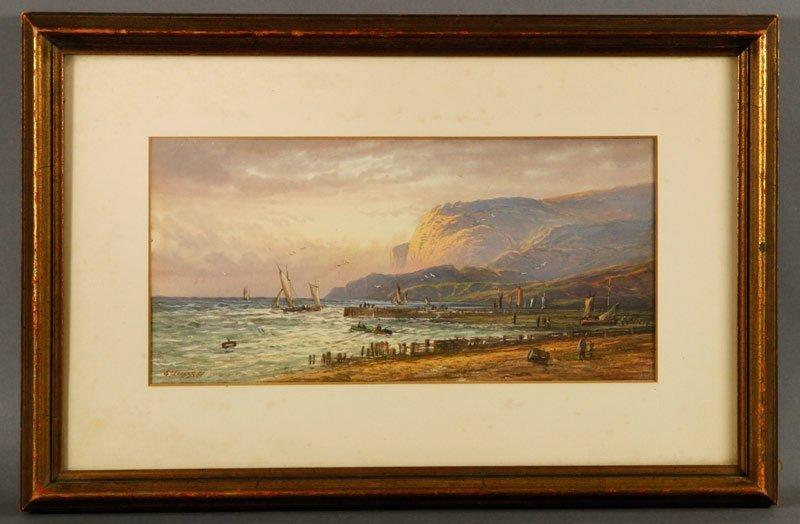 Lewis, Coastal Scene, W/C