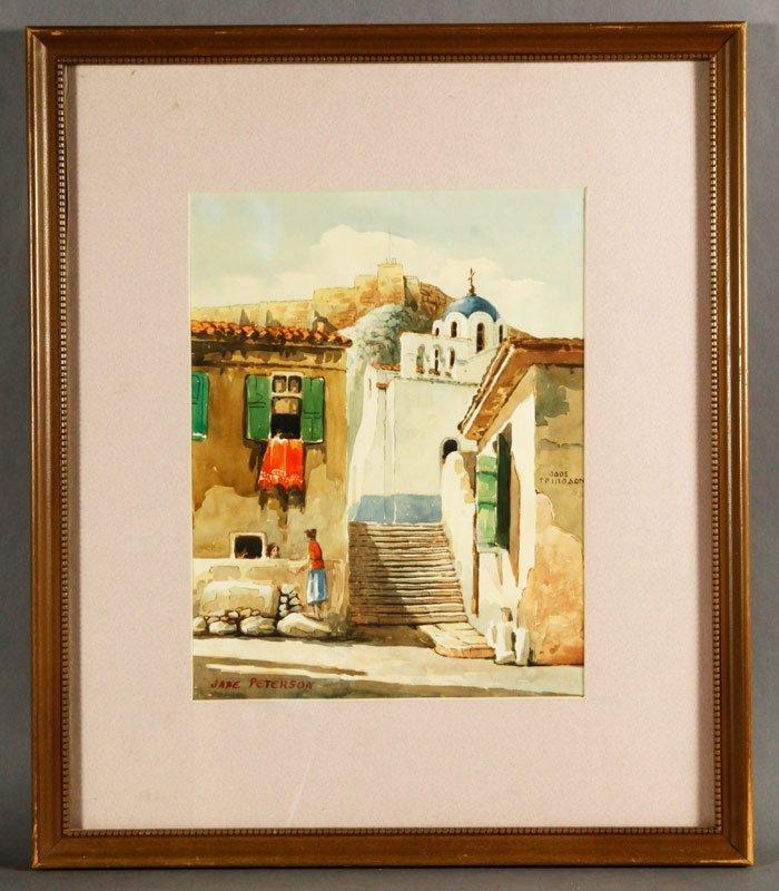 Peterson, Mediterranean Street Scene, W/C