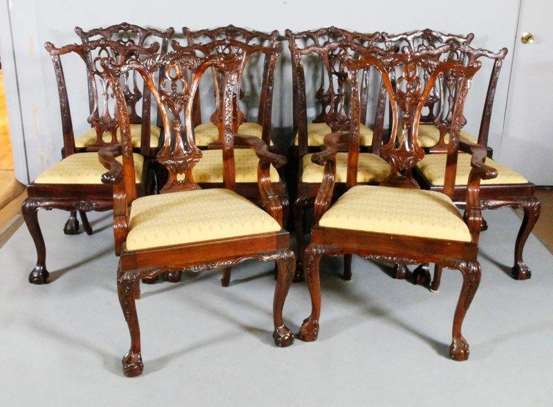 10 Mahogany Dining Chairs