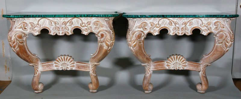 Pair Louis XV Style Foyer Tables