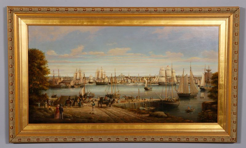 Coole, Boston Harbor from Charlestown, O/P