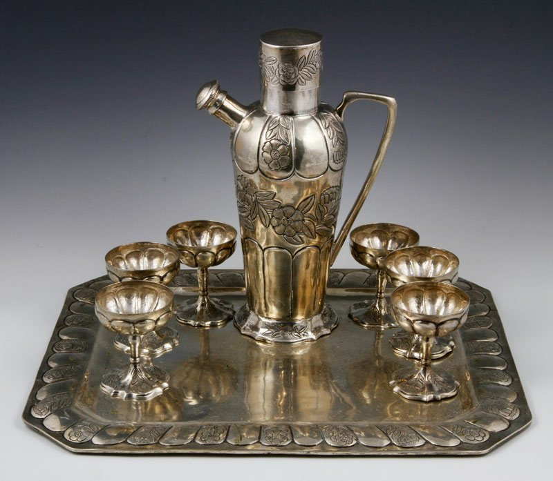 Mexican Sterling Cocktail Serving Set
