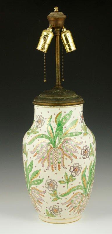 Arts and Crafts Ceramic Lamp