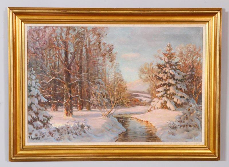 Lauritz, Winter Landscape, O/C