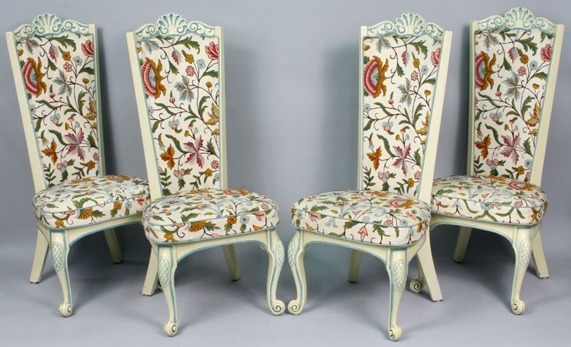 Set of Eight (8) 20th C. architectural chairs