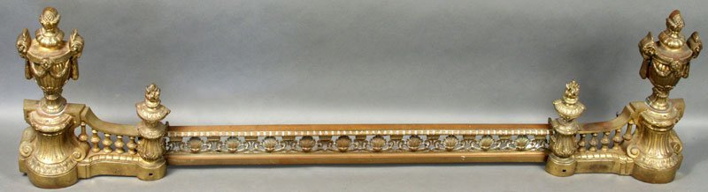 19th C. French Louis XVI Brass Fender