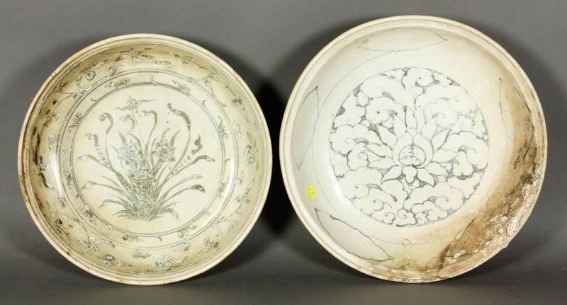 Vietnamese Rare 15th/16th C. Blue and White Plates