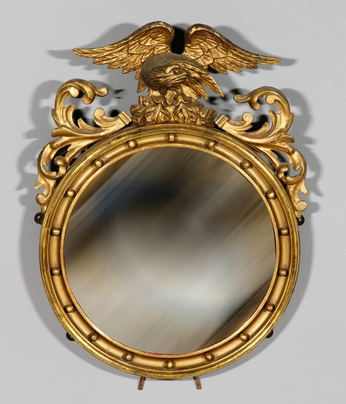 Early 19th C. Federal Convex Mirror