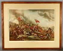 """Kurz & Allison, """"Battle of Bunker Hill"""", Lithograph"""
