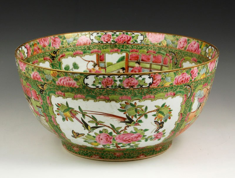 Chinese 19th C. Rose Medallion Bowl