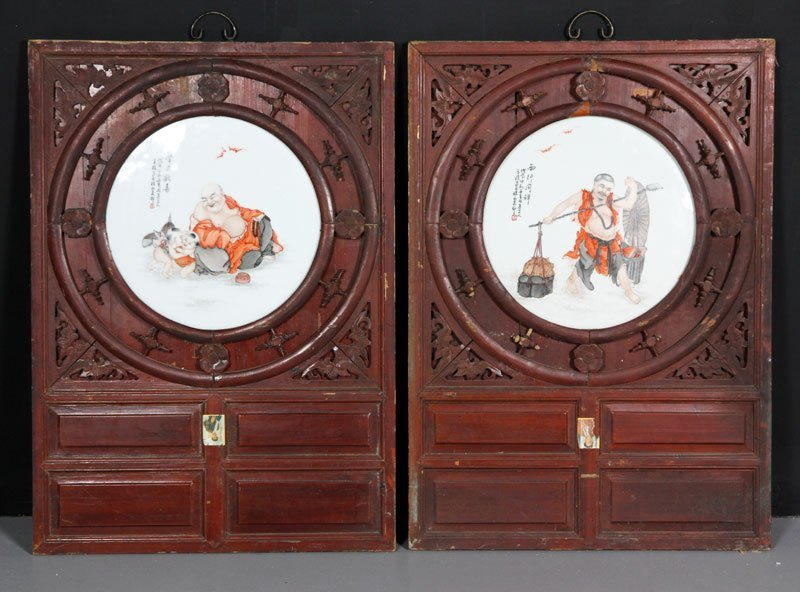 Chinese Pair of Porcelain Plaques
