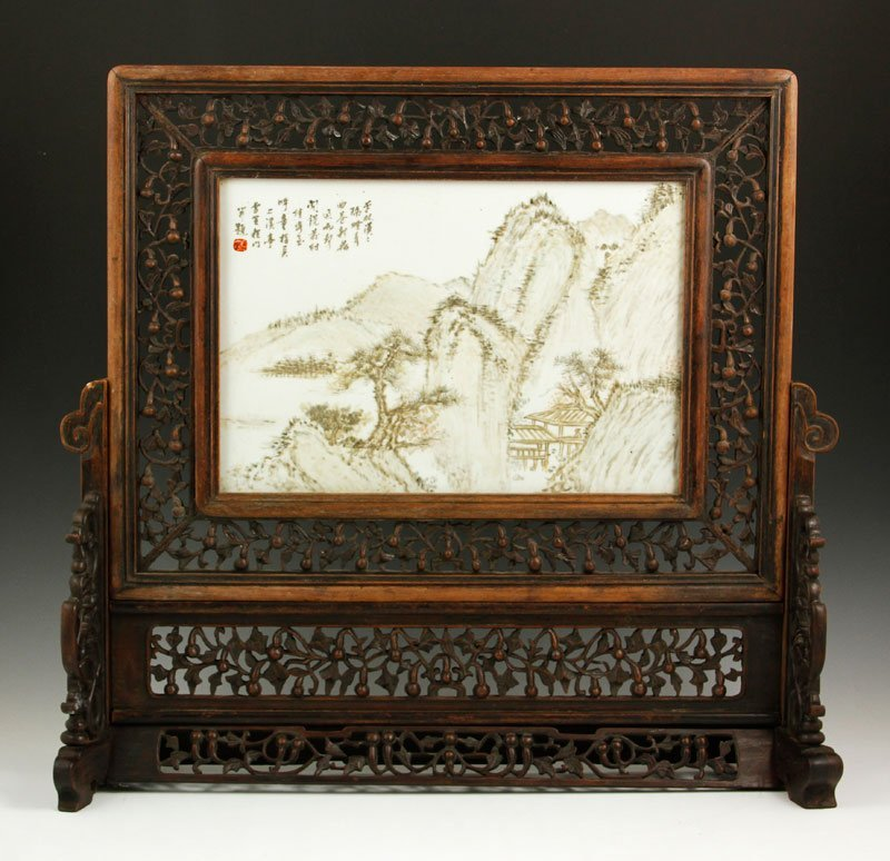 Chinese Republic Period Famille Rose Plaque