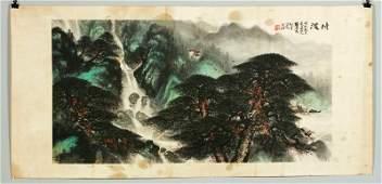 Chinese Watercolor Painting, Signed Li Xiongcai
