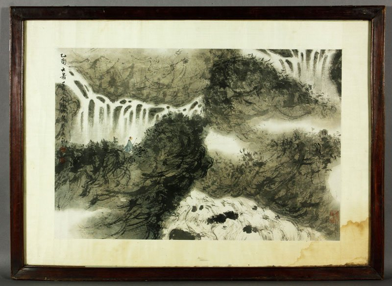 Chinese 20th C. Painting, Fu Baoshi