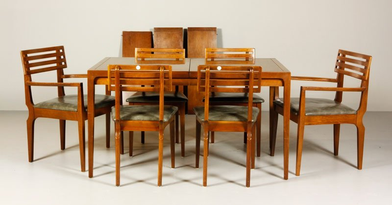Counterpoint by Drexel Dining Table & 6 Chairs