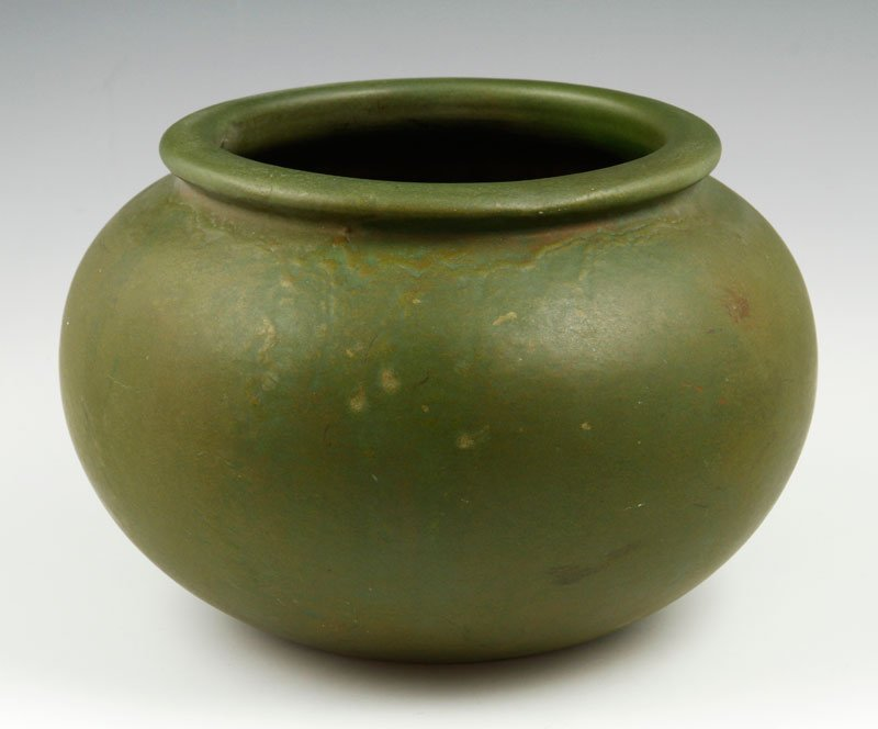 Unmarked Roseville Carnelian Bowl